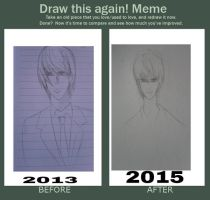 Draw This Again Meme - Light Yagami by Inkris