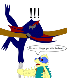 Come on Narga, get with the beat! by Salem-the-Psychic