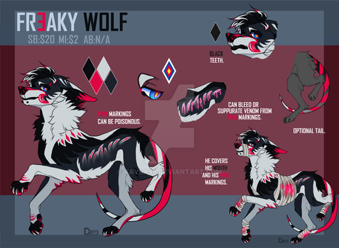 FREAKY WOLF AUCTION|OPEN PAYPAL! by Kaysa99