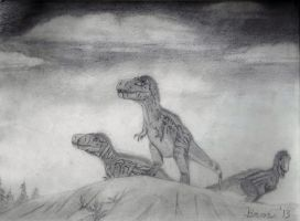 Gorgosaurus (Graphite) by Bronto-Thunder-Zaur