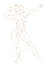 Muscle 80s Lineart by Luis3iguel