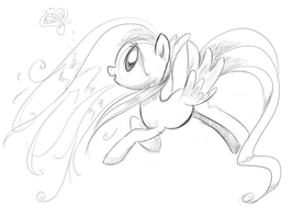 Fluttershy Sketch 1 by Incomplete-Obsession