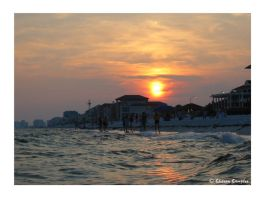 sunset at destin by artgyrl