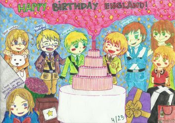 aph: Happy Birthday England 2018! by LoveEmerald