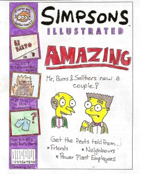 Simpsons Illustrated cover by tangledupxinplaid