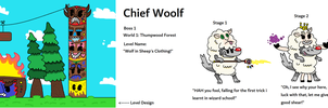 Lil Inksquirt and Axehead - Chief Woolf by CheesySquidSandwich