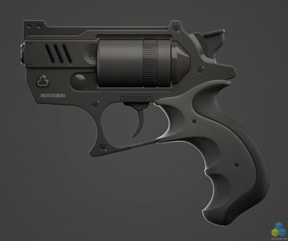 SciFi Snubnose Revolver - Shot3 by pixelquarry