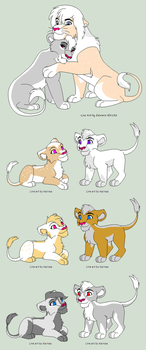 Penelope And Barafu breedable results ((CLOSED) by SapphireScarletta