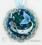 In Frozen Seas Mermaid Art Pendant by DeidreDreams