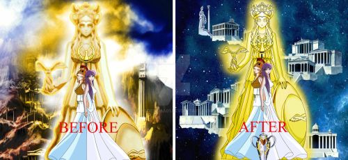 Saint seiya athena old and new version by hadesama01