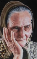 Old Lady Portrait by SpringzArt