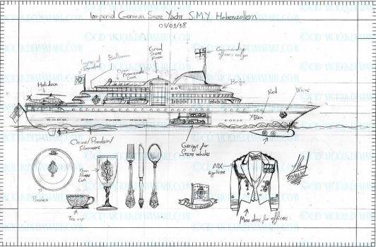 Sketch - SMY Hohenzollern blueprint by Cid-Vicious
