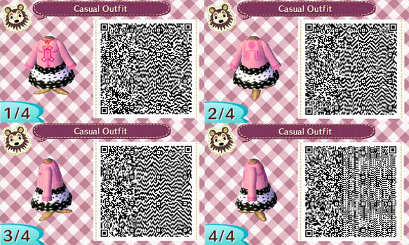ACNL- Pink Bunny Hoodie QR Code by ACNL-QR-CODEZ
