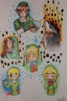 Link and his instruments by MidnaAgitha