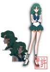 Sailor Neptune - Sailor Moon Crystal by xuweisen