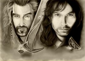 The Hobbit. Thorin and Kili by Adelmort