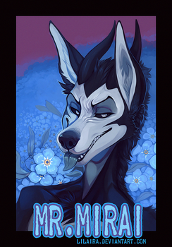 BADGE for Mr.Mirai by LiLaiRa