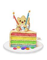 Togepi Rainbow Cake