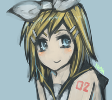 Kagamine Rin painting by NoahXica
