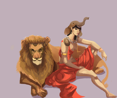 Godess Africa by xAlalax