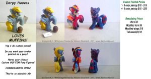 MLP FIM Custom Painted Ponies by RaptorArts