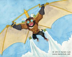 Flying Monkey by karenluk