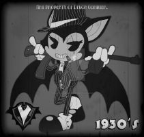 1930's - Bella the Inkwell Mobster by PlayboyVampire
