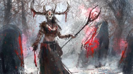 Blood Shaman (Female) by conorburkeart