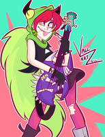 Dementia Rocking Out by vallartz
