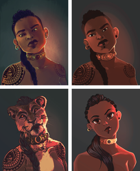Commission Style Samples by mulattaFURY