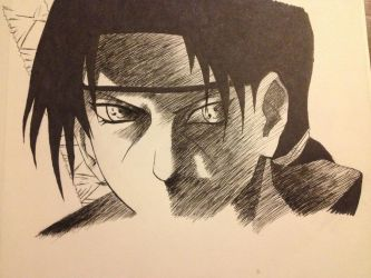 Itachi Sketch by Infamouscatforce
