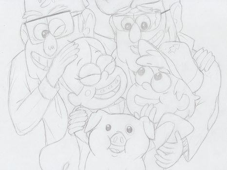 Pines Family Sketch by RainstormCheetah