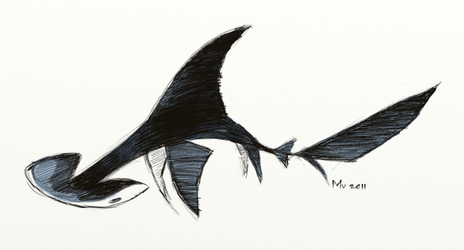 Shark Jam: Hammerhead by sketchinthoughts