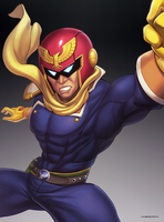 Captain Falcon (Ultimate) by hybridmink