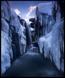 Inside the Ice Canyon by MarcAdamus