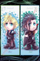 FF7: Bookmark: Zack + Cloud by DarkLitria