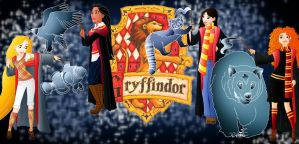 Disney Hogwarts students: Gryffindor by Willemijn1991