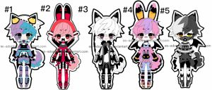 Sychobunn adoptable batch closed by AS-Adoptables