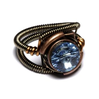 Steampunk Jewelry Aquamarine by CatherinetteRings