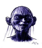 Gollum by Lyvyan