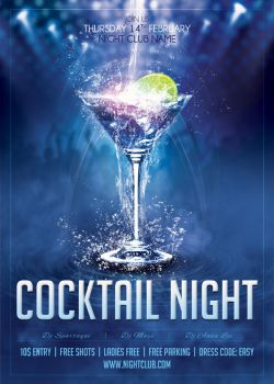 01 Cocktail Night Poster Template by sluapdesign