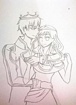 Tedros and Agatha by trixodsey