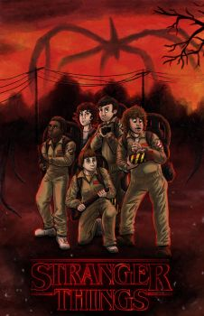Stranger Things and Ghostbusters by Phatmouse09
