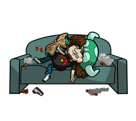 Vinesauce Joel --  Too Many Burritos by Darkness-and-Passion
