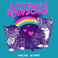 Kittens and Rainbows by HillaryWhiteRabbit