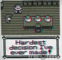 3D Pokemon Choice Cross Stitch by LordLibidan
