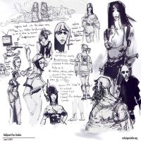 ballpoint sketches04 by CHARLESRATTERAY