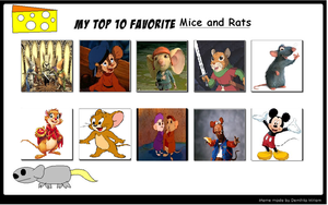 My Top 10 Favorite Mice and Rats by sonicfighter