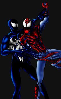symbiote vs symbiote ps by megamike75