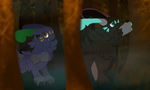 Flick and Glinda in the Forest [WC] by TempLily
